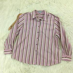 Foxcroft Shaped Fit Wrinkle Free Button Down Shirt
